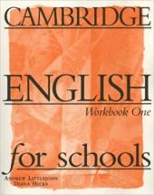 Cambridge English for Schools 1. Workbook - фото обкладинки книги