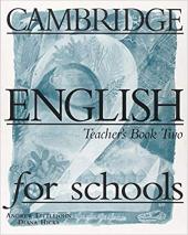 Cambridge English for Schools 2. Teacher's book - фото обкладинки книги