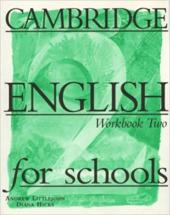 Cambridge English for Schools 2. Workbook - фото обкладинки книги