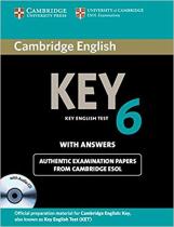 Книга Cambridge English Key 6 Self-study Pack