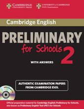 Cambridge English Preliminary for Schools 2 Student's Book with Answers and Audio CDs (2) - фото обкладинки книги