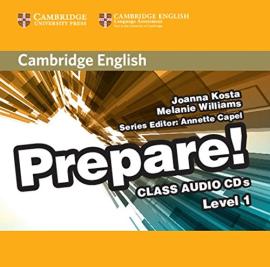 Cambridge English Prepare! Level 1 Class Audio CD's (аудіодиск) - фото книги