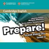 Cambridge English Prepare! Level 2 Class Audio CD's(аудіодиск) - фото обкладинки книги