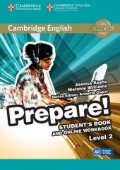 Cambridge English Prepare! Level 2 Student's Book+Work Book(підручник+робочий зошит) - фото обкладинки книги