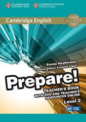 Cambridge English Prepare! Level 2 TB with DVD and Teacher's Resources Online (книга вчителя+DVD+онлайн ресурс) - фото обкладинки книги