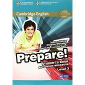 Cambridge English Prepare! Level 3 Student's Book + online Work Book (підручник) - фото обкладинки книги