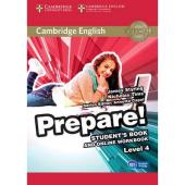 Cambridge English Prepare! Level 4 Student's Book + online Work Book (підручник) - фото обкладинки книги