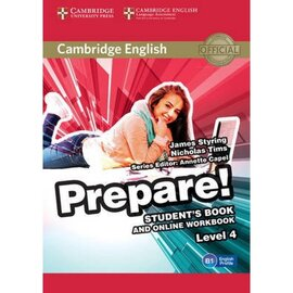 Cambridge English Prepare! Level 4 Student's Book + online Work Book (підручник) - фото книги