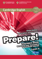 Cambridge English Prepare! Level 4 TB with DVD and Teacher's Resources Online (книга вчителя+DVD+онлайн ресурс) - фото обкладинки книги