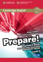 Cambridge English Prepare! Level 4 TB with DVD and Teacher's Resources Online (книга вчителя+DVD+онлайн ресурс) - фото книги