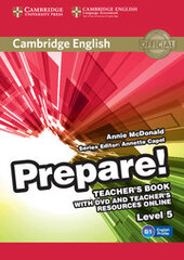 Cambridge English Prepare! Level 5 TB with DVD and Teacher's Resources Online (книга вчителя+DVD+онлайн ресурс) - фото обкладинки книги