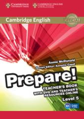Cambridge English Prepare! Level 5 TB with DVD and Teacher's Resources Online (книга вчителя+DVD+онлайн ресурс) - фото обкладинки книги