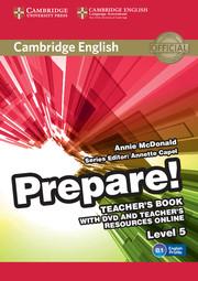 Cambridge English Prepare! Level 5 TB with DVD and Teacher's Resources Online (книга вчителя+DVD+онлайн ресурс) - фото книги