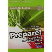 Cambridge English Prepare! Level 6 Teacher's Book+DVD (книга вчителя+аудіодиск) - фото обкладинки книги