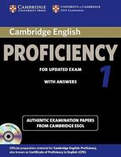 Cambridge English Proficiency 1 Self-study Pack (підручник+аудіодиск) - фото обкладинки книги