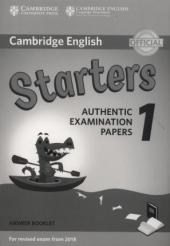 Cambridge English Starters 1 for Revised Exam from 2018. Answer Booklet (брошура з відповідями) - фото обкладинки книги