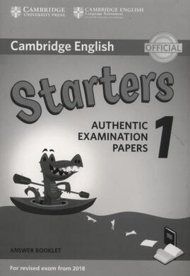 Cambridge English Starters 1 for Revised Exam from 2018. Answer Booklet (брошура з відповідями) - фото книги