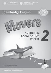 Cambridge English Young Learners 2 for Revised Exam from 2018 Movers Answer Booklet (буклет з відповідями) - фото обкладинки книги