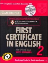 Аудіодиск Cambridge FCE 2 Self-study Pack for update exam