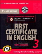 Аудіодиск Cambridge FCE 3 Self-study Pack for update exam