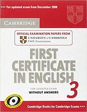 Cambridge FCE 3 Student's Book without answers  for updated exam - фото обкладинки книги