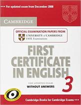 Комплект книг Cambridge FCE 3 Student's Book without answers  for updated exam