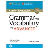 Cambridge Grammar and Vocabulary for Advanced with Answers+Audio (робочий зошит) - фото обкладинки книги
