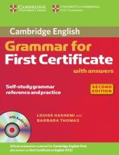 Cambridge Grammar for First Certificate Book with Answers+СD(підручник) - фото обкладинки книги