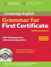 Cambridge Grammar for First Certificate Book with Answers+СD(підручник) - фото обкладинки книги