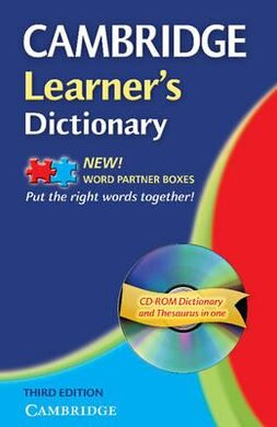 Cambridge Learner's Dictionary with CD-ROM. 3rd Edition (словник + аудіодиск) - фото книги