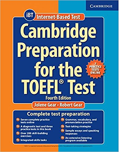 Підручник Cambridge Preparation TOEFL Test 4th Ed with Online Practice Tests+CD
