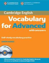 Cambridge Vocabulary for Advanced with Answers and Audio CD (словник) - фото обкладинки книги
