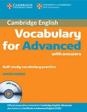 Cambridge Vocabulary for Advanced with Answers and Audio CD (словник) - фото обкладинки книги