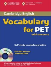 Cambridge Vocabulary for PET. Student Book with Answers and Audio CD - фото обкладинки книги