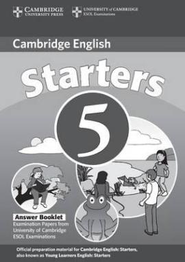 Cambridge YLE Tests 5 Starters. Answer Booklet (відповіді до підручника) - фото книги