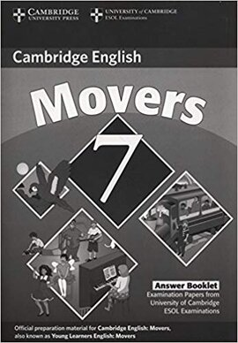 Cambridge YLE Tests 7 Movers Answer Booklet - фото книги