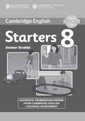 Cambridge YLE Tests 8 Starters. Answer Booklet (відповіді до підручника) - фото обкладинки книги