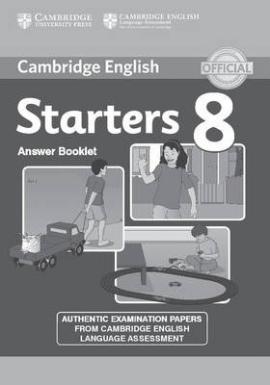 Cambridge YLE Tests 8 Starters. Answer Booklet (відповіді до підручника) - фото книги