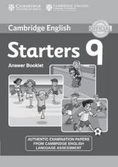 Cambridge YLE Tests 9 Starters. Answer Booklet (відповіді до підручника) - фото обкладинки книги
