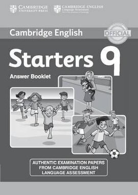Cambridge YLE Tests 9 Starters. Answer Booklet (відповіді до підручника) - фото книги
