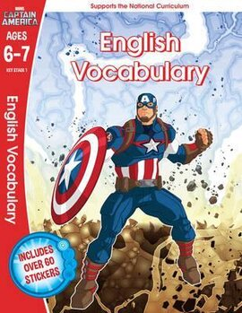 Captain America: English Vocabulary, Ages 6-7 - фото книги