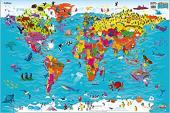 Children's World Map - фото обкладинки книги