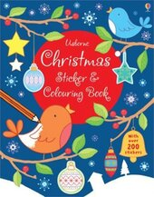 Christmas Sticker and Colouring Book - фото обкладинки книги