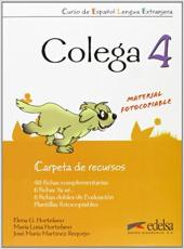 Colega 4. Carpeta de recursos (додаткові дидактичні матеріали) - фото обкладинки книги