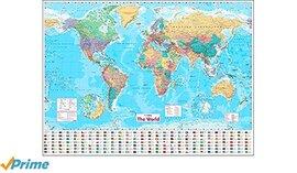 Мапа Collins World Wall Paper Map