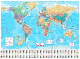 Посібник Collins World Wall Paper Map