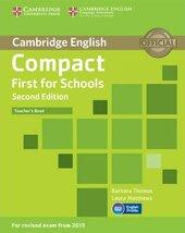 Compact First  for Schools 2nd Edition. Teacher's Book - фото обкладинки книги