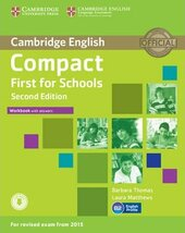 Compact First for Schools 2nd Edition. Workbook + Answers + Audio CD - фото обкладинки книги