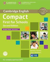 Compact First for Schools Student's Book with Answers with CD-ROM - фото обкладинки книги