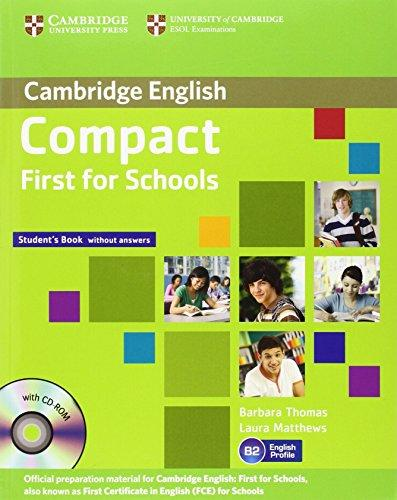 Підручник Compact First for Schools Student's Book without Answers with CD-ROM
